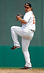 9 March 2007: Baltimore Orioles pitcher Jaret Wright on the mound against the Washington Nationals at Fort Lauderdale Stadium in Fort Lauderdale, Florida. <br /> <br /> Mandatory Photo Credit: Ed Wolfstein Photo