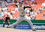 7 June 2007: Pittsburgh Pirates pitcher Ian Snell in action against the Washington Nationals at RFK Stadium in Washington, DC. The Pirates defeated the Nationals 3-2 in the third game of their 3-game series...Mandatory Credit: Ed Wolfstein Photo