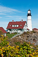 Portland Head Light Station, Cape Elizabeth, Maine, USA. Est. 1791