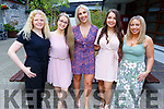 Rebecca Kylie, Dominika O'Sullivan, Kelly O'Connor, Caoilainn O'Sullivan and Caroline Lyons from HR Suite at the BBQ in Benners Hotel on Friday evening.