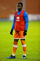 Blackpool's Andy Kanga<br /> <br /> Photographer Alex Dodd/CameraSport<br /> <br /> The FA Youth Cup Third Round - Blackpool U18 v Derby County U18 - Tuesday 4th December 2018 - Bloomfield Road - Blackpool<br />  <br /> World Copyright &copy; 2018 CameraSport. All rights reserved. 43 Linden Ave. Countesthorpe. Leicester. England. LE8 5PG - Tel: +44 (0) 116 277 4147 - admin@camerasport.com - www.camerasport.com
