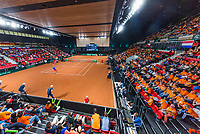 The Hague, The Netherlands, September 17, 2017,  Sportcampus , Davis Cup Netherlands - Chech Republic, Fifth match : Thiemo de Bakker (NED) overall view<br /> Photo: Tennisimages/Henk Koster