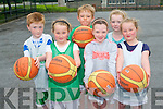 Learning Basketball skills at the Team Kerry Basketball Camps are: .Front L-R Chelcy McCarthy, Shauna Byrne and Ella McCarthy. .Back L-R Justin McCarthy, Eric HJelm and Adele O'Brien.