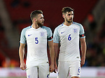 England's Callum Chambers and Jack Stephens during the Under 21 International Friendly match at the St Mary's Stadium, Southampton. Picture date November 10th, 2016 Pic David Klein/Sportimage