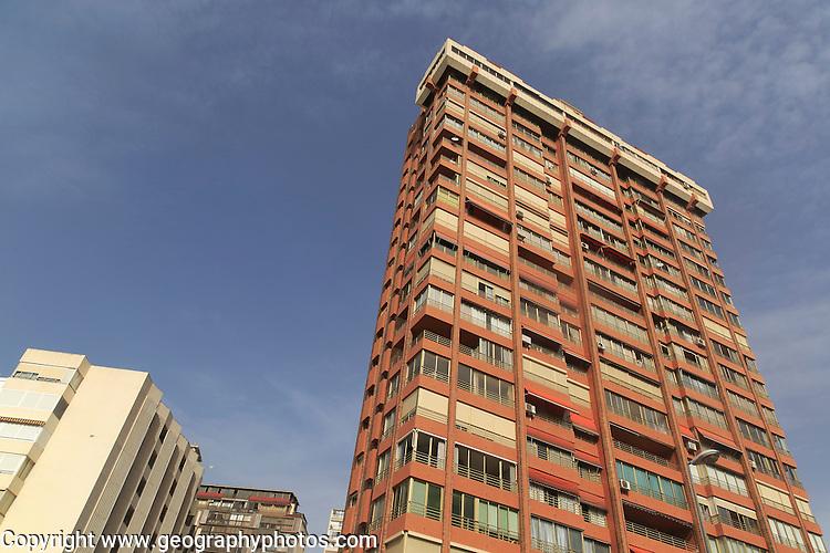 High rise apartment buildings, Benidorm, Alicante province, Spain