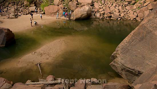 emerald pool hike at zion national park.