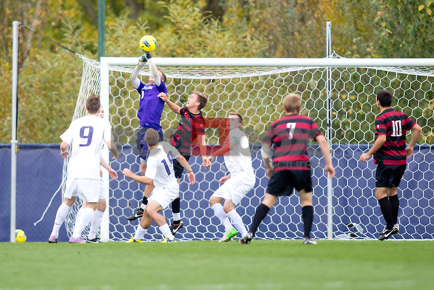 The University of Washington men's soccer team defeats Stanford 2-0 at Husky Soccer Stadium  October 13, 2012. (Photography By Scott Eklund/Red Box Pictures)
