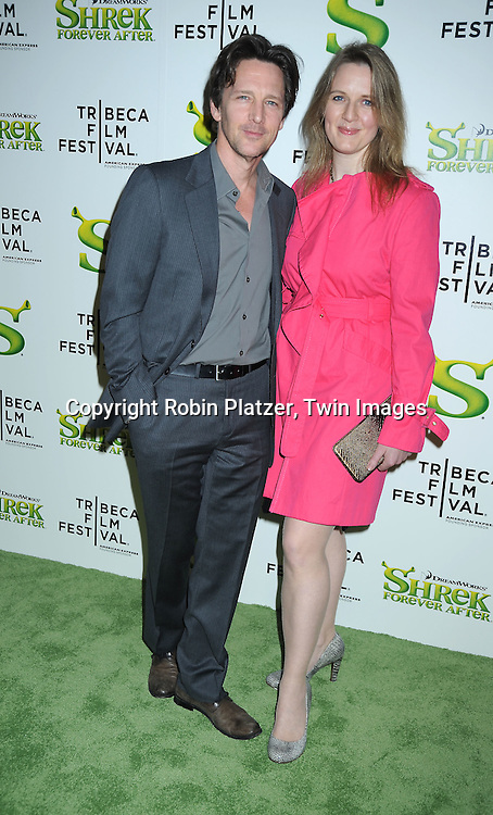 "Andrew McCarthy and wife Dolores Rice arriving at The ""Shrek Forever After"" world premiere at The opening night of The Tribeca Film Festival on April 21, 2010 at The Ziegfeld Theatre in New York City. The movie stars Cameron Diaz, Mike Meyers, Eddie Murphy and Antonio Banderas."