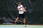 CHAPEL HILL, NC - MAY 12: South Carolina's Thomas Mayronne. The University of South Carolina Gamecocks played the East Tennessee State University Buccaneers on May 12, 2017, at The Cone-Kenfield Tennis Center in Chapel Hill, NC in an NCAA Division I Men's College Tennis Tournament first round match. South Carolina won 5-0.