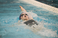 NWA Democrat-Gazette/CHARLIE KAIJO Fayetteville's Audrey McKinnon swims the girls 200 yard individual medley during a swim meet, Saturday, February 9, 2019 at the University of Arkansas HYPER pool in Fayetteville.