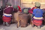 China, Lahu women in Xishuangbanna, Yunnan Province