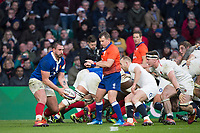 Twickenham, United Kingdom. 7th February, Louis PICAMOLE, looking for support, England vs France, 2019 Guinness Six Nations Rugby Match   played at  the  RFU Stadium, Twickenham, England, <br /> &copy; PeterSPURRIER: Intersport Images