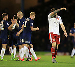 Sheffield United's Billy Sharp looks on dejected at the final whistle during the League One match at Roots Hall Stadium.  Photo credit should read: David Klein/Sportimage