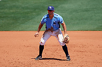 Charlotte Stone Crabs third baseman Kevin Padlo (11) during a game against the Palm Beach Cardinals on April 12, 2017 at Charlotte Sports Park in Port Charlotte, Florida.  Palm Beach defeated Charlotte 8-7.  (Mike Janes/Four Seam Images)