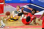 v.re:Retin OBASOHAN (BA),<br /> Jacob HOLLATZ (OL),<br /> Aktion,Zweikampf.<br /> <br /> Basketball 1.Bundesliga,BBL, nph0001-Finalturnier 2020.<br /> Viertelfinale am 18.06.2020.<br /> BROSE BAMBERG-EWE BASKETS OLDENBURG,<br /> Audi Dome<br /> <br /> Foto:Frank Hoermann / SVEN SIMON / /Pool/nordphoto<br /> <br /> National and international News-Agencies OUT - Editorial Use ONLY