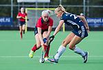 AMSTELVEEN  -  Anouk Stam (Pin) met , hoofdklasse hockeywedstrijd dames Pinole-Laren (1-3). COPYRIGHT  KOEN SUYK