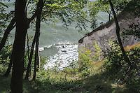 Buchenwald an der Kreideküste im Nationalpark Jasmund auf der Insel Rügen, Mecklenburg-Vorpommern, Deutschland, UNESCO-Weltnaturerbe