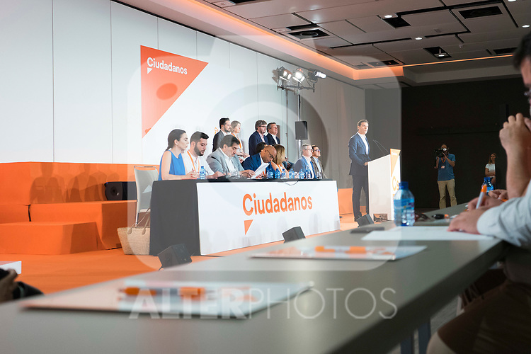 Empty chairs during Ciudadanos General Council. July 29, 2019. (ALTERPHOTOS/Francis González)