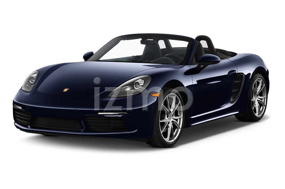 2019 Porsche 718 Boxster Base 2 Door Convertible angular front stock photos of front three quarter view