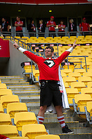 Mc Greg Ellis on day one of the 2016 HSBC Wellington Sevens at Westpac Stadium, Wellington, New Zealand on Saturday, 30 January 2016. Photo: Dave Lintott / lintottphoto.co.nz