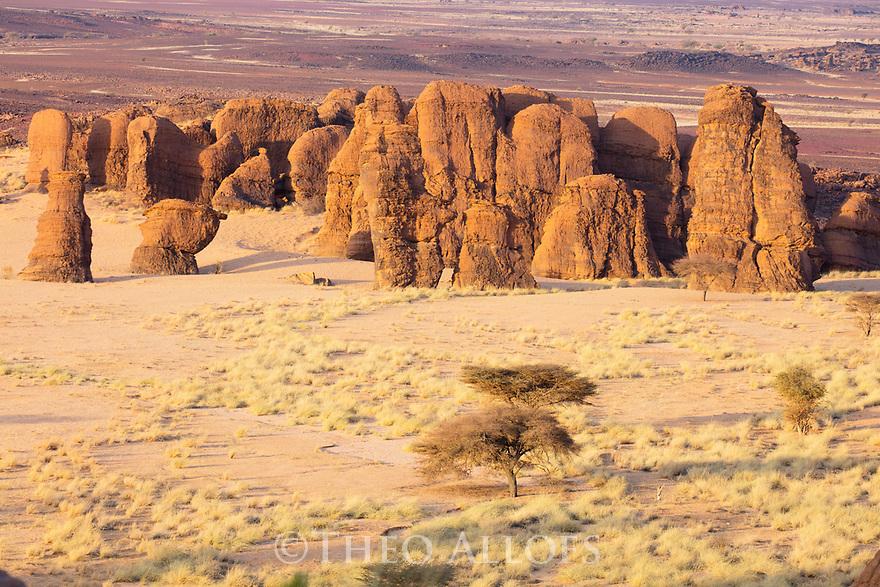 Chad (Tchad), North Africa, Sahara, Ennedi, rock pillars
