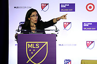Orlando, Florida - Monday July 29, 2019: The MLS All-Stars and Atletico de Madrid during the MLS All-Star Game Press Conference at Exploria Stadium.