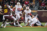 Wisconsin Badgers running back Chris James (5) carries the ball during an NCAA College Big Ten Conference football game against the Minnesota Golden Gophers Saturday, November 25, 2017, in Minneapolis, Minnesota. The Badgers won 31-0. (Photo by David Stluka)