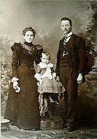 Milton Albert Litzinger (right), Catherine (Boring) Litzinger (left), and Ralph Bernard Litzinger - 1898<br /> <br /> Conrad>Leonard>John Leonard>Leonard Leas>Milton Albert