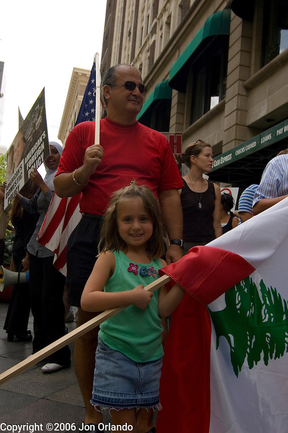 More than 700 people turned out for a march and rally in Denver, Colorado on August 12th, 2006 to call for an end to the conflict between Isreal and Lebanon.
