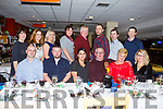 John Gibbons from Ballyduff, seated 4th from the left,  celebrating his 60th birthday with his family and friends in the Greyhound Track on Saturday night last.