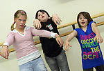 Dinija Aleidzane, Shannon Sweeney and Robyne McDonnell pretending to be zombies at the Open Day at the Old Abbey Dance Studio...Photo NEWSFILE/Jenny Matthews.(Photo credit should read Jenny Matthews/NEWSFILE)....This Picture has been sent you under the condtions enclosed by:.Newsfile Ltd..The Studio,.Millmount Abbey,.Drogheda,.Co Meath..Ireland..Tel: +353(0)41-9871240.Fax: +353(0)41-9871260.GSM: +353(0)86-2500958.email: pictures@newsfile.ie.www.newsfile.ie.FTP: 193.120.102.198.