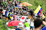 Team Sky on the front of the peloton during Stage 8 of the 104th edition of the Tour de France 2017, running 187.5km from Dole to Station des Rousses, France. 8th July 2017.<br /> Picture: ASO/Alex Broadway | Cyclefile<br /> <br /> <br /> All photos usage must carry mandatory copyright credit (&copy; Cyclefile | ASO/Alex Broadway)
