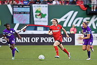 Portland, Oregon - Sunday April 17, 2016: Portland Thorns FC defender Emily Sonnett (16). The Portland Thorns play the Orlando Pride during a regular season NWSL match at Providence Park.