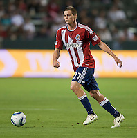 CARSON, CA – July 2, 2011: Chivas USA forward Justin Braun (17) during the match between Chivas USA and Chicago Fire at the Home Depot Center in Carson, California. Final score Chivas USA 1, Chicago Fire 1.