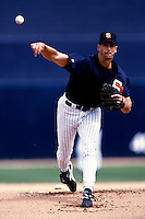 Kevin Brown of the San Diego Padres participates in a Major League Baseball Spring Training game during the 1998 season in Phoenix, Arizona. (Larry Goren/Four Seam Images)