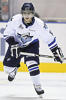 QMJHL (LHJMQ) hockey profile photo on Rimouski Oceanic Anthony DeLuca October 6, 2012 at the Colisee Pepsi in Quebec city.