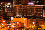 Nashville downtown at night