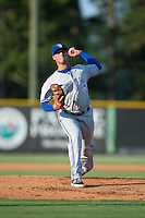 Bluefield Blue Jays starting pitcher Jacob Brentz (24) in action against the Burlington Royals at Burlington Athletic Park on June 29, 2015 in Burlington, North Carolina.  The Royals defeated the Blue Jays 4-1. (Brian Westerholt/Four Seam Images)