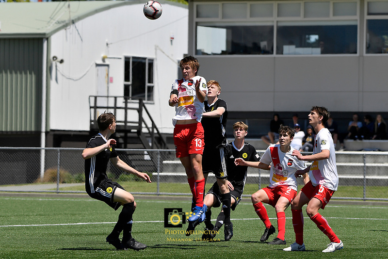 National Youth League - Phoenix v Canterbury United at Petone Memorial Park, Lower Hutt, New Zealand on Saturday 10 November 2018. <br /> Photo by Masanori Udagawa. <br /> www.photowellington.photoshelter.com