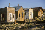 Mining camp buildings moved to the historic park, Tonopah, Nev.
