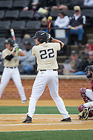 Will Craig (22) of the Wake Forest Demon Deacons at bat against the Harvard Crimson at David F. Couch Ballpark on March 5, 2016 in Winston-Salem, North Carolina.  The Crimson defeated the Demon Deacons 6-3.  (Brian Westerholt/Four Seam Images)