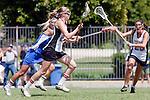 Los Angeles, CA 04/18/10 - Megan Dawe (UCSB # 7), Brittany Barry (UCSB # 32) and Gracie Binder (SCU #22)