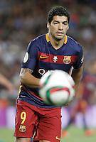 FC Barcelona's Luis Suarez during Supercup of Spain 2nd match.August 17,2015. (ALTERPHOTOS/Acero)
