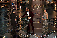 Armie Hammer and Gal Gadot present the Oscar&reg; for achievement in makeup during the live ABC Telecast of The 90th Oscars&reg; at the Dolby&reg; Theatre in Hollywood, CA on Sunday, March 4, 2018.<br /> *Editorial Use Only*<br /> CAP/PLF/AMPAS<br /> Supplied by Capital Pictures