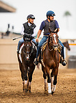 AUG 04: Omaha Beach and Mike Smith workout 5 furlongs in 59.80 at The Del Mar Thoroughbred Club in Del Mar, California on August 04, 2019. Evers/Eclipse Sportswire/CSM