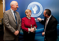 "**** NO FEE PIC***.12/04/2012 .(L to r) Ray McAndrew,Chair of the Commission for the Support of Victims of Crime.Gillian Hussey Chair of Crime Victims Helpline,.David McKenna President of Victim Support Europe.during a conference on the ""The EU Directive on Victims Rights: Opportunities and Challenges for Ireland"" hosted by the the Irish Council for Civil Liberties (ICCL) in Dublin Castle..Photo: Gareth Chaney Collins"