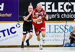 Stockholm 2013-11-10 Handboll Elitserien Hammarby IF - Eskilstuna Guif :  <br /> Eskilstuna Guif Mathias Tholin jublar efter att ha gjort ett m&aring;l<br /> (Foto: Kenta J&ouml;nsson) Nyckelord:  jubel gl&auml;dje lycka glad happy