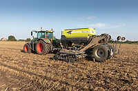 Drilling oilseed rape in the Lincolnshire fens<br /> ©Tim Scrivener Photographer 07850 303986<br />      ....Covering Agriculture In The UK....