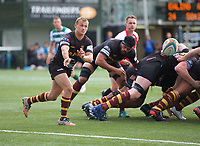 Captain Darryl Veenendaal of Ampthill RUFC during the RFU Championship Cup match between Ealing Trailfinders and Ampthill RUFC at Castle Bar , West Ealing , England  on 28 September 2019. Photo by Alan  Stanford / PRiME Media Images