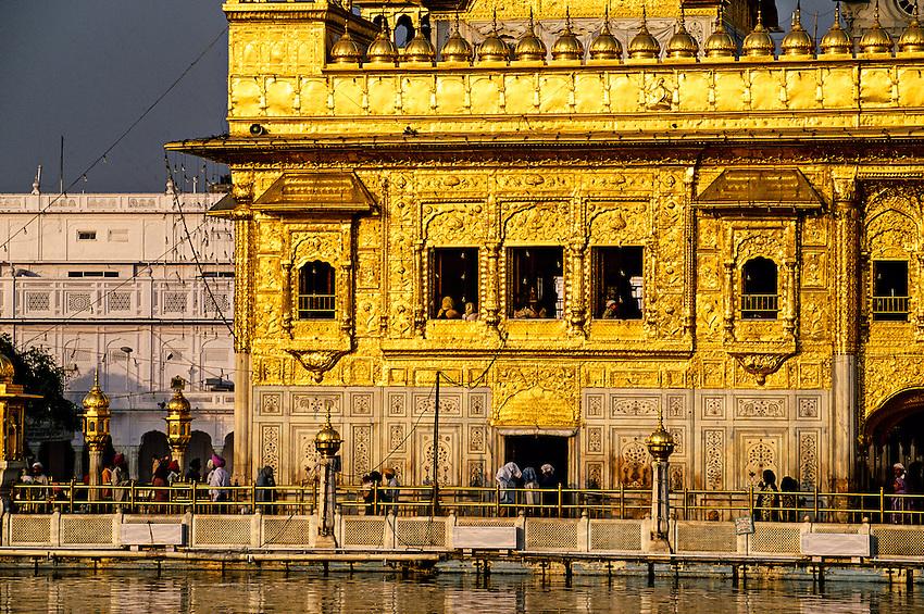 The Golden Temple (holiest Sikh shrine); Amritsar; Punjab; India